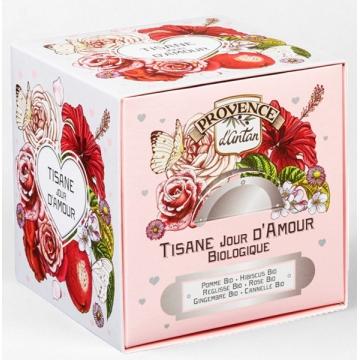 Tisane Be Cube Jour D'amour bio 24 sachets recharge carton - Provence d'Antan