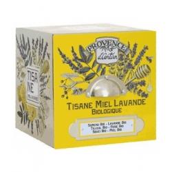 Tisane Be Cube Miel Lavande bio 24 sachets boite métal - Provence d'Antan