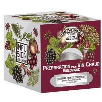 Préparation bio pour Vin chaud Recharge de 24 sachets - Provence d'Antan