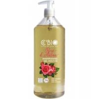 Shampooing douche Rose d'Antan 1 L - C'BIO, cébio shampoing bio, aromatic Provence