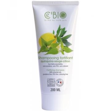 Shampooing fortifiant Quinquina Sauge Citron 200 ml - C'BIO