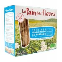 Tartines craquantes au Sarrasin sans sel ni saccharose 150 gr - Le Pain des Fleurs, galettes croquantes