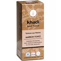 Teinture aux Plantes Marron Foncé 100 gr - Khadi, coloration cheveux aromatic provence