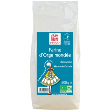 Farine d'Orge mondée 500 gr - Celnat