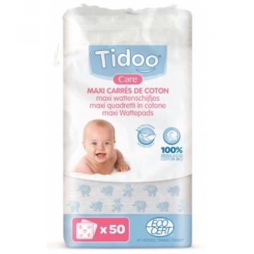 50 Maxi Carrés de Coton Bio - Tidoo Care