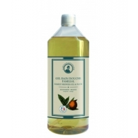 Gel bain douche familial Mandarine Orange 1 L - L'Artisan Savonnier, gel douche bio aromatic provence