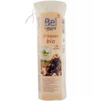 70 Disques à démaquiller coton bio motif en fleur et bords cousu - Bel Nature, coton bio certifié