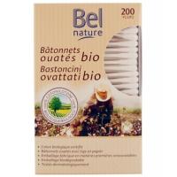 200 Bâtonnets d'oreille boîte distributrice coton bio - Bel Nature, coton tige Aromatic Provence