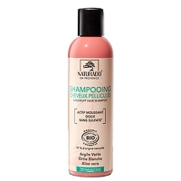 Shampooing anti-pelliculaire bio argile verte - 200ml Naturado - aromatic provence