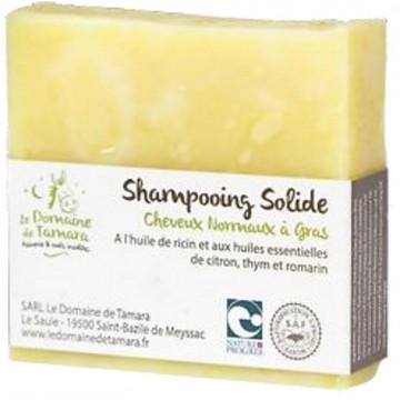 Shampooing solide karité coco lin 100 gr - Le Domaine de Tamara
