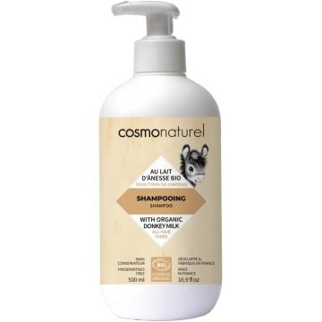 Shampooing au Lait d'Anesse bio huiles essentielles 500ml - Cosmo Naturel