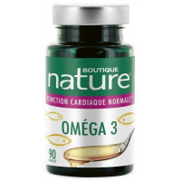 Omega 3 - 90 capsules Boutique Nature,   Oméga 3 - 6 - 9,  Compléments alimentaires Aromatic Provence