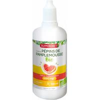 Extrait de Pépins de Pamplemousse Bio 1600 mg 100ml - Super Diet référencé par Aromatic Provence. immunité défenses