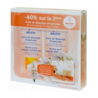 lot de 2 Huiles de massage vergetures 2 x 100 ml - Weleda, huile corps bio Aromatic Provence