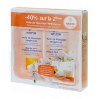 lot de 2 Huiles de massage vergetures 2 x 100 ml - Weleda, huile corps bio Aromatic Provence