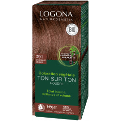 Soin colorant végétal poudre Chocolat chaud 100 g - Logona