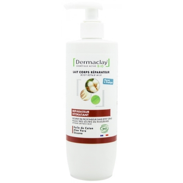 Lait corps réparateur hydratant peaux très sèches 400 ml - Dermaclay