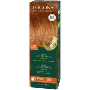Crème colorante végétale Couleurs d'Automne cheveux chatains 150 ml - Logona