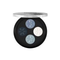 Fard à paupières Quattro Blue platinum 07  4x0.80 g - Lavera - Maquillage Bio - Aromatic Provence
