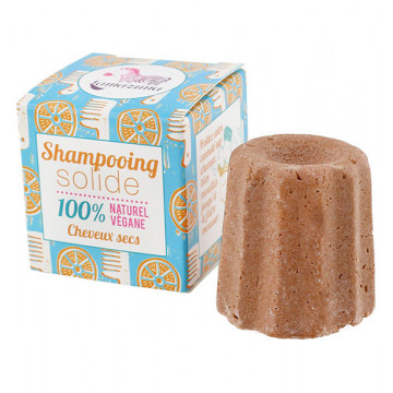 Shampoing solide naturel Cheveux secs Orange 55 g - Lamazuna