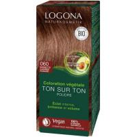 Coloration végétale Ton sur Ton Noisette Cuivrée foncée 060 poudre 100gr - Logona Soin colorant végétal Aromatic Provence