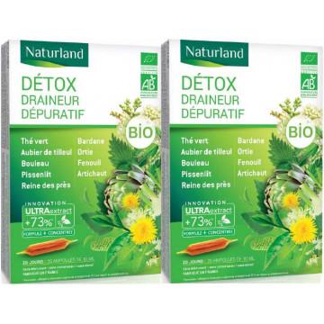 Detox Bio 9 plantes Lot de 2 boîtes 20 ampoules - Naturland