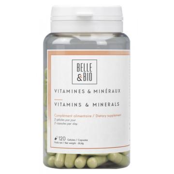 Vitamines et minéraux naturels 120 gélules - Belle et Bio