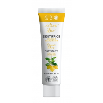 Dentifrice Citron purifiant blanchissant 75ml - C'Bio