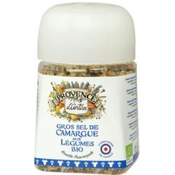 Gros sel de Camargue aux légumes bio pot végétal 90 gr - Provence d'Antan
