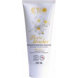 Shampooing gel douche Fleurs Blanches 200ml - C'Bio