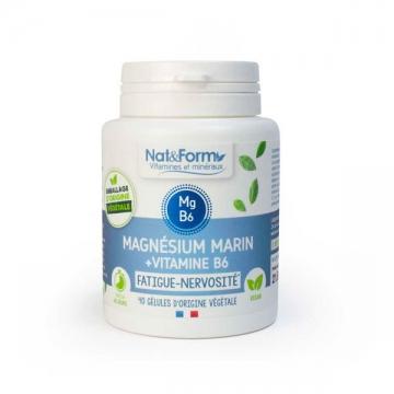 Magnésium marin Vitamine B6 Original 40 gélules - Nat et Form