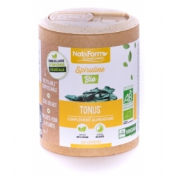 Spiruline bio 200 comprimés - Nat et Form