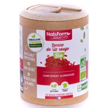 Levure de riz rouge Bio 120 gélules - Nat et Form
