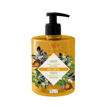 Bain douche bio FRUITE Mandarine Orange 500 ml - Cosmo Naturel