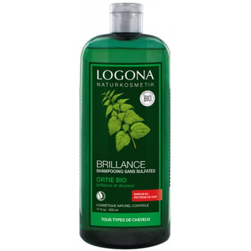 Shampooing brillance ortie 500ml - Logona