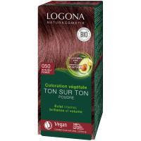 Coloration végétale Ton sur Ton Acajou foncé 050 - Logona Soin colorant végétal Aromatic Provence