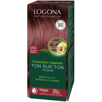 Coloration végétale Ton sur Ton Acajou foncé 050 100gr - Logona