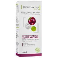 Crème Active Jour Intensive Triple action anti-âge - Dermaclay,   Soins anti-Age bio / Peau mâture,  Soins du visage bio.