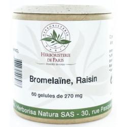 Bromélaine Marc de raisin 60 Gélules végétales - Herboristerie de Paris