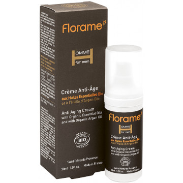 Crème anti-âge bio Homme 30 ml - Florame
