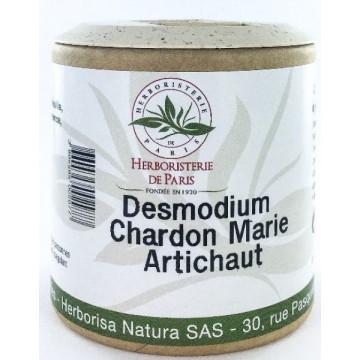 Desmodium Chardon marie Curcuma Artichaut 200 gélules - Herboristerie de Paris