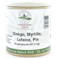 Ginkgo Myrtille Lutéine OPC Zéaxanthine 60 Gélules Herboristerie de Paris visio vision plus Aromatic Provence