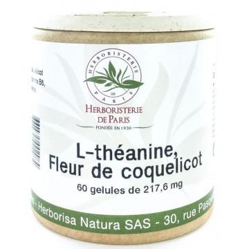 L théanine Coquelicot Vitamines B Mélatonine 60 Gélules - Herboristerie de Paris