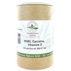 M.S.M Curcuma Vitamine E 150 gélules - Herboristerie de Paris
