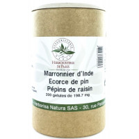 Marronnier d'Inde OPC Pin Raisin Vitamine E 200 Gélules - Herboristerie de Paris circulation Aromatic Provence