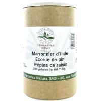 Marronnier d'Inde OPC Pin Raisin Vitamine E 200 Gélules - Herboristerie de Paris circulation Aromatic Provence