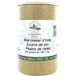 Marronnier d'Inde OPC Pin Raisin Vitamine E 200 Gélules - Herboristerie de Paris