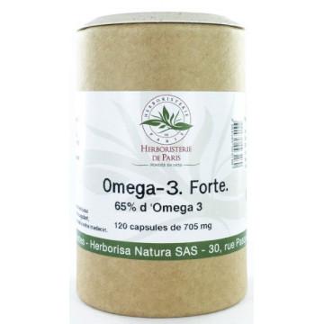 Omega 3 forte 65% 120 capsules de 705 mg - Herboristerie de paris