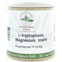 L Tryptophane Magnésium marin Vitamines E et B6 60 Gélules - Herboristerie de paris calme et sérénité Aromatic Provence