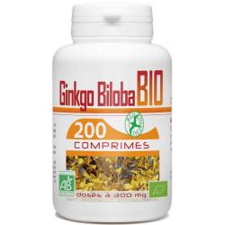 Ginkgo Biloba bio 300mg 200 comprimés - GPH Diffusion
